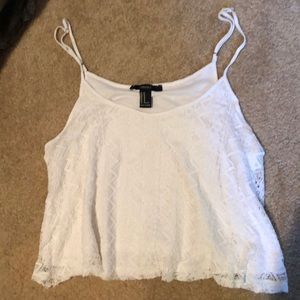 Forever 21 white crop top